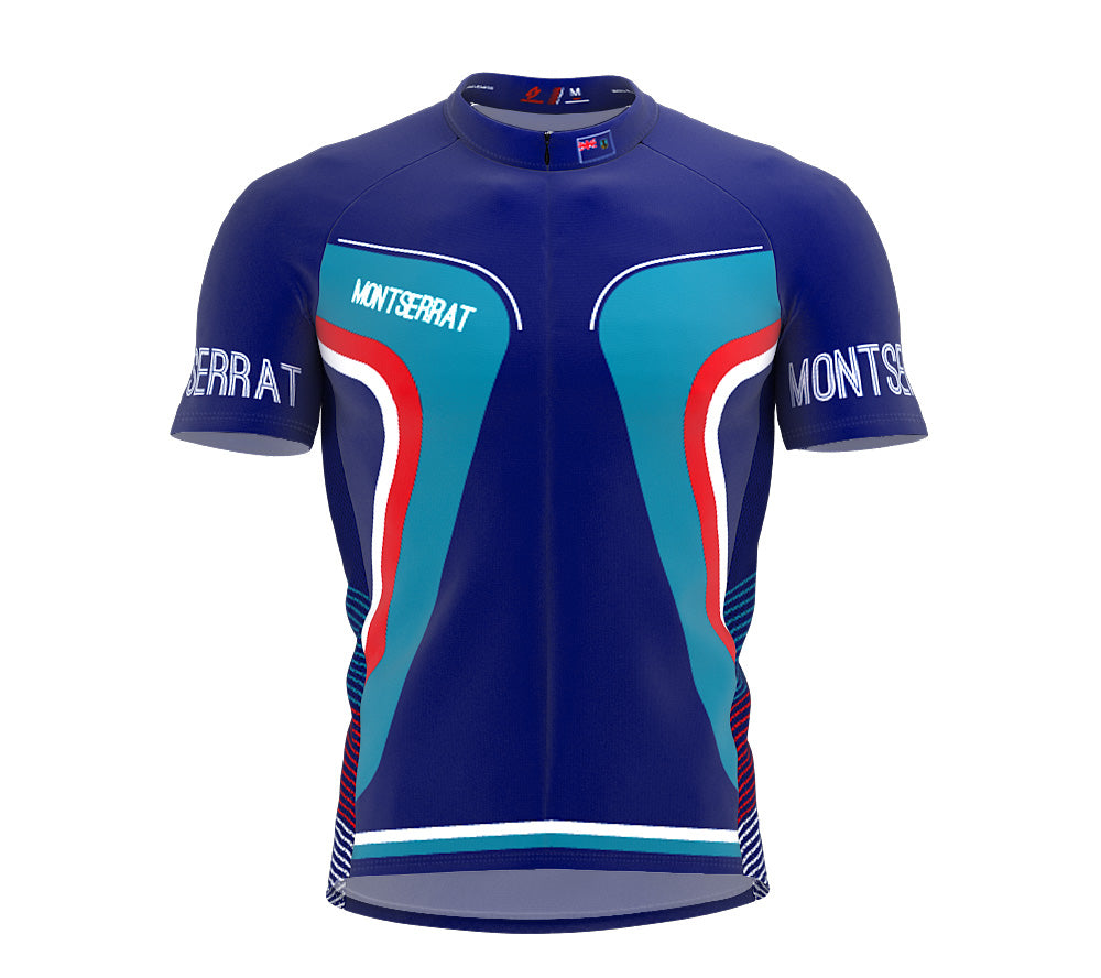 Montserrat  Full Zipper Bike Short Sleeve Cycling Jersey