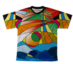 Mosaic Technical T-Shirt for Men and Women
