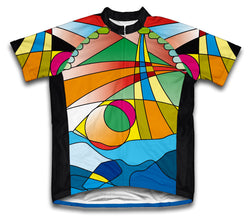 Mosaic Short Sleeve Cycling Jersey for Men and Women