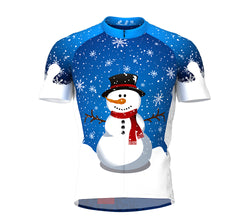 Mr. Snowy Short Sleeve Cycling Jersey for Men and Women