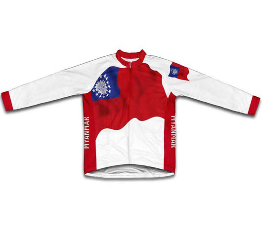 Myanmar-Burma Flag Winter Thermal Cycling Jersey