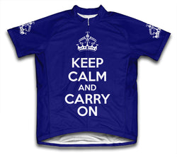 Keep Calm and Carry On Navy Cycling Jersey