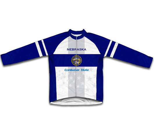 Nebraska Flag Winter Thermal Cycling Jersey