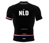Netherlands Black CODE Short Sleeve Cycling PRO Jersey for Men and Women