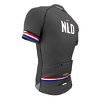Netherlands Gray CODE Short Sleeve Cycling PRO Jersey for Men and Women