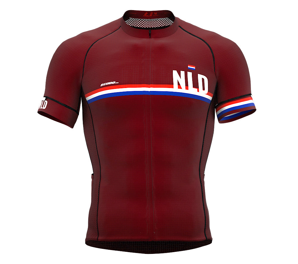 Netherlands Vine CODE Short Sleeve Cycling PRO Jersey for Men and WomenNetherlands Vine CODE Short Sleeve Cycling PRO Jersey for Men and Women