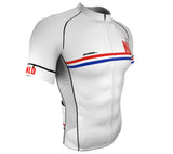 Netherlands White CODE Short Sleeve Cycling PRO Jersey for Men and Women