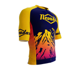 ScudoPro Pro-Elite Short Sleeve Cycling Jersey Nevada USA State Icon landmark symbol identity  | Men and Women