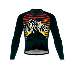 ScudoPro Pro Thermal Long Sleeve Cycling Jersey New Hampshire USA state Icon landmark identity  | Men and Women