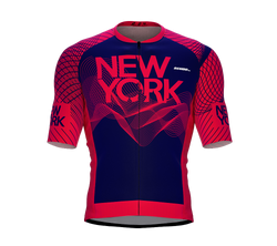 ScudoPro Pro-Elite Short Sleeve Cycling Jersey New York USA State Icon landmark symbol identity  | Men and Women