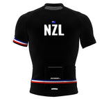 New Zealand Black CODE Short Sleeve Cycling PRO Jersey for Men and Women