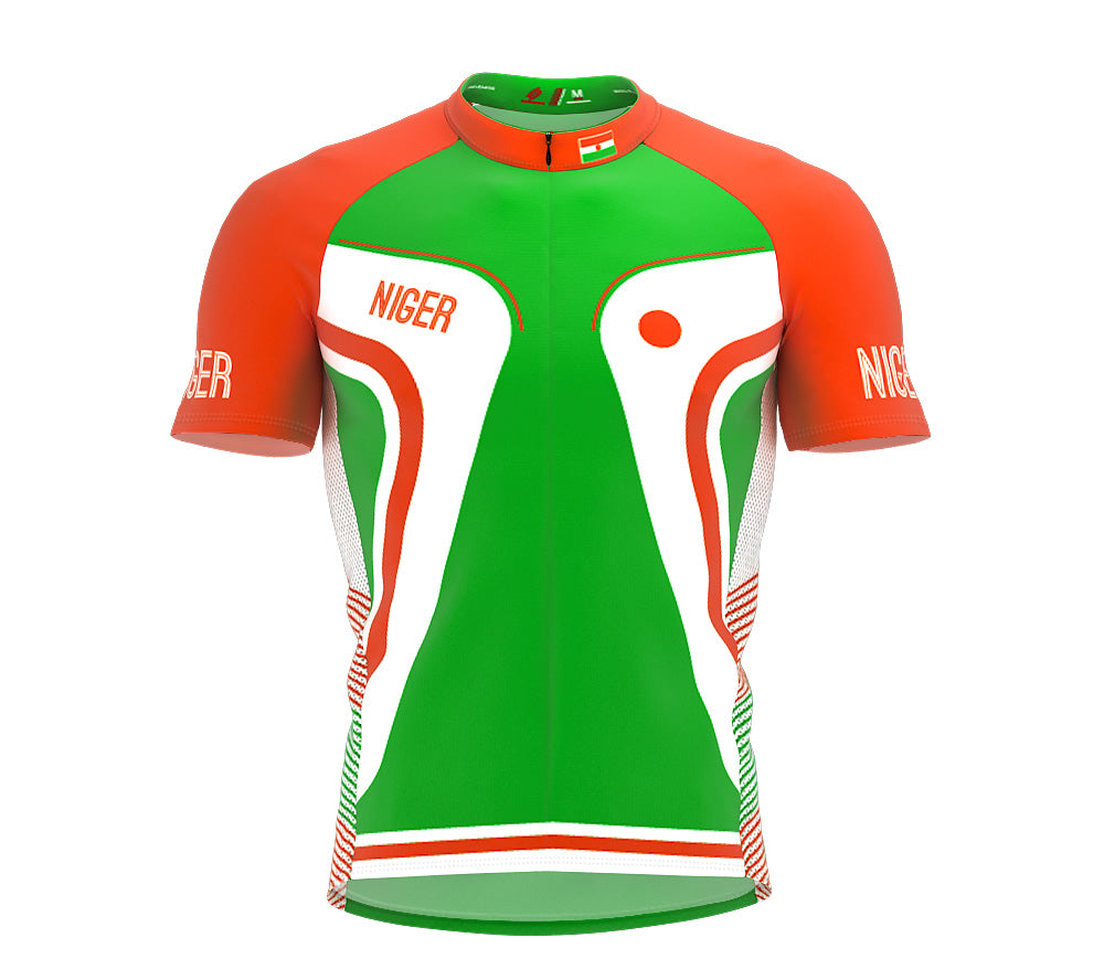 Niger  Full Zipper Bike Short Sleeve Cycling Jersey