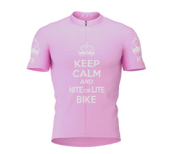 Nite Bike Pink Cycling Jersey for Men and Women
