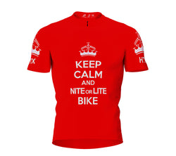 Nite Bike Red Cycling Jersey for Men and Women