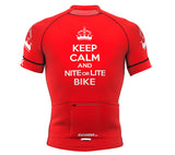 Nite Bike Red Short Sleeve Cycling PRO Jersey for Men and Women