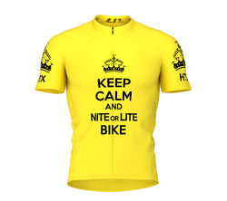 Nite Bike Yellow Cycling Jersey for Men and Women