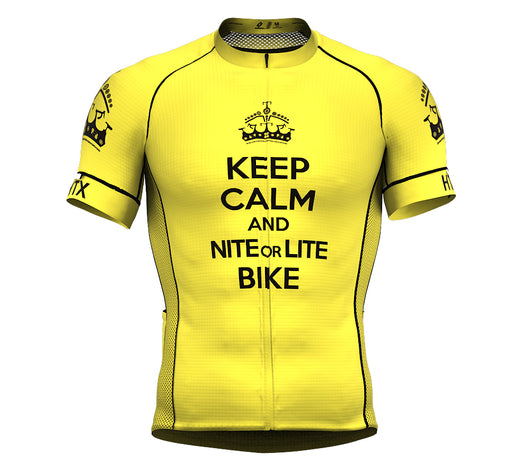 Nite Bike Yellow Short Sleeve Cycling PRO Jersey for Men and Women