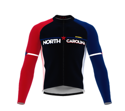 ScudoPro Pro Thermal Long Sleeve Cycling Jersey North Carolina USA state Icon landmark identity  | Men and Women