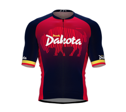 ScudoPro Pro-Elite Short Sleeve Cycling Jersey North Dakota USA State Icon landmark symbol identity  | Men and Women