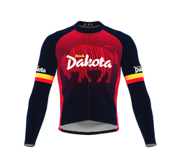 ScudoPro Pro Thermal Long Sleeve Cycling Jersey North Dakota USA state Icon landmark identity  | Men and Women