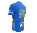Northern Mariana Islands  Full Zipper Bike Short Sleeve Cycling Jersey