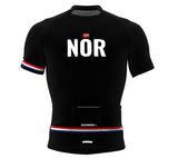 Norway Black CODE Short Sleeve Cycling PRO Jersey for Men and Women