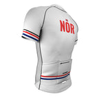 Norway White CODE Short Sleeve Cycling PRO Jersey for Men and Women