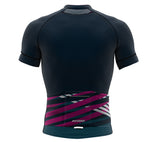 Nudius Magenta Short Sleeve Cycling PRO Jersey