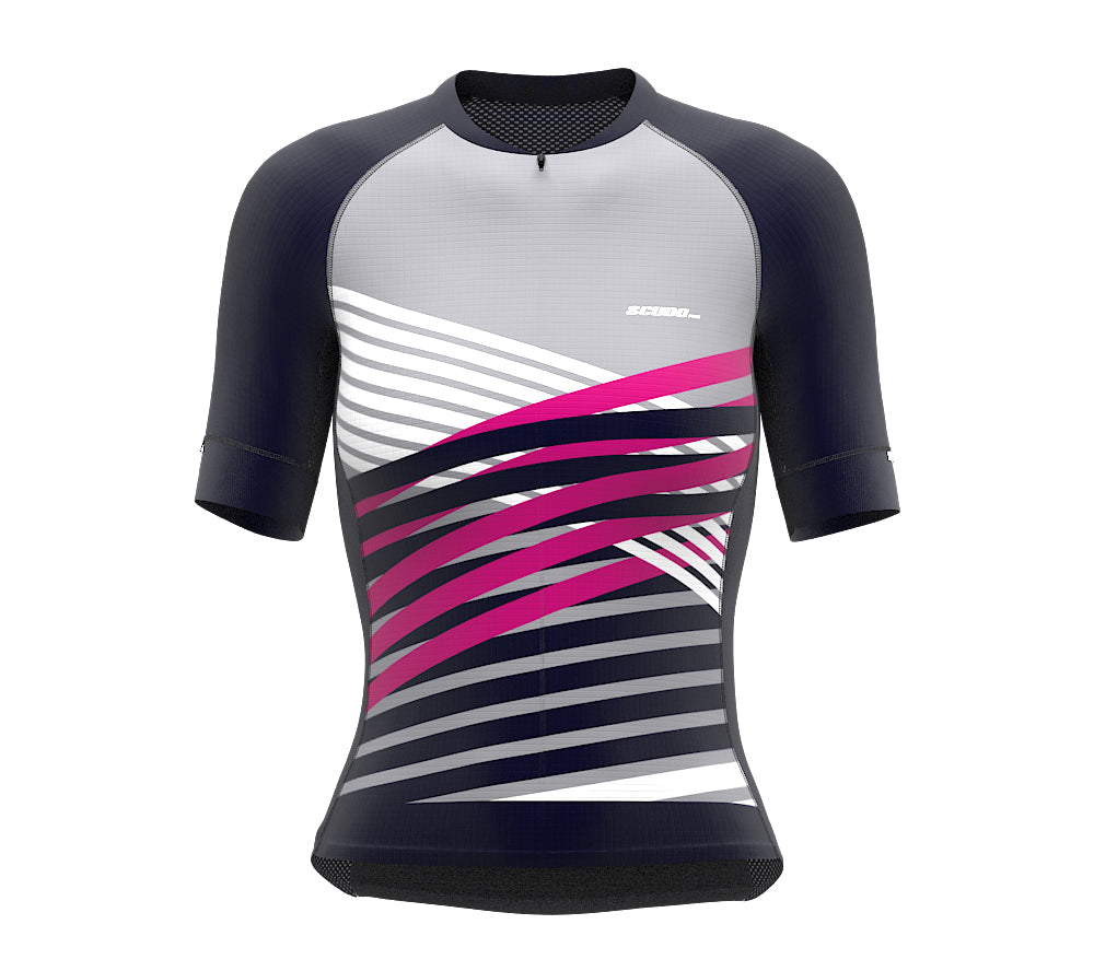 Nudius Pink Short Sleeve Cycling PRO Jersey