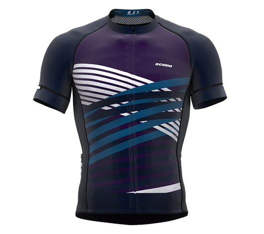 Nudius Purple Short Sleeve Cycling PRO Jersey