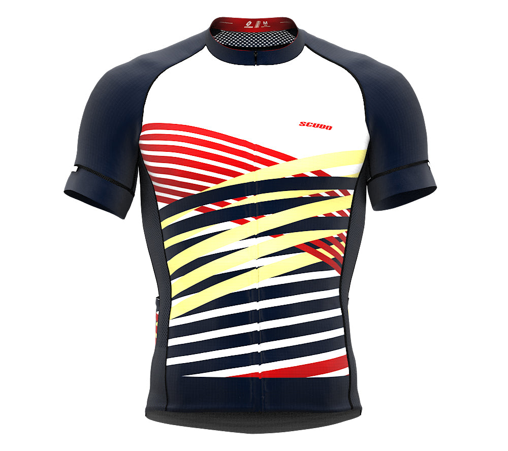 Nudius Red Short Sleeve Cycling PRO Jersey