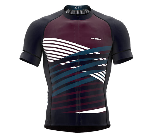 Nudius Red Wine Short Sleeve Cycling PRO Jersey