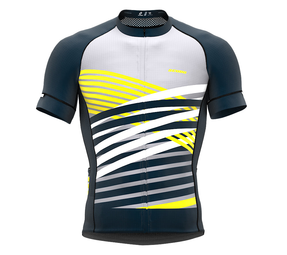 Nudius Yellow Short Sleeve Cycling PRO Jersey