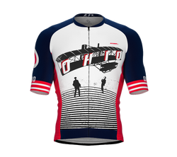 ScudoPro Pro-Elite Short Sleeve Cycling Jersey Ohio USA State Icon landmark symbol identity  | Men and Women