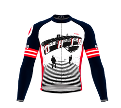 ScudoPro Pro Thermal Long Sleeve Cycling Jersey Ohio USA state Icon landmark identity  | Men and Women