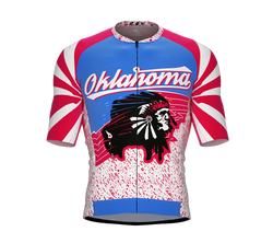 ScudoPro Pro-Elite Short Sleeve Cycling Jersey Oklahoma USA State Icon landmark symbol identity  | Men and Women