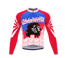ScudoPro Pro Thermal Long Sleeve Cycling Jersey Oklahoma USA state Icon landmark identity  | Men and Women