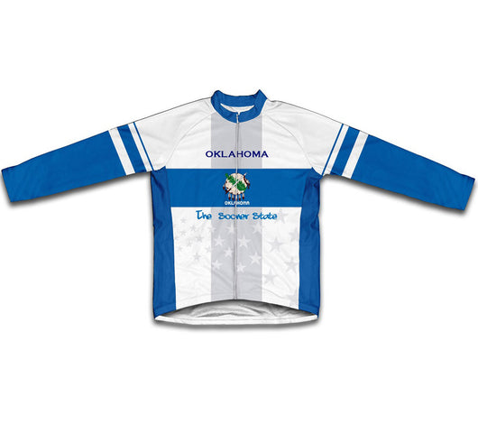 Oklahoma Flag Winter Thermal Cycling Jersey