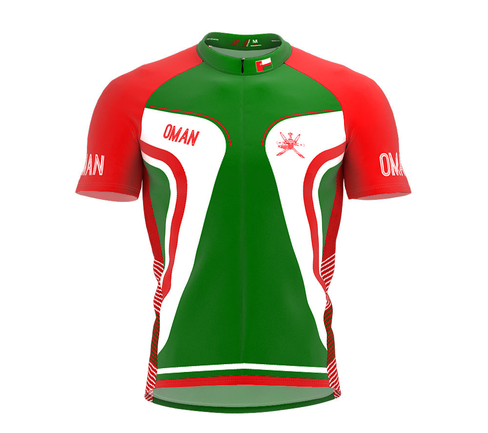 Oman  Full Zipper Bike Short Sleeve Cycling Jersey