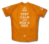 Keep Calm and Ride a Bike Orange Cycling Jersey