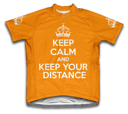 Keep Calm and Keep Your Distance Orange Cycling Jersey