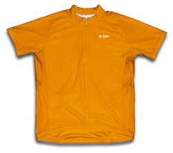 Orange Short Sleeve Cycling Jersey for Men and Women