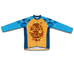 Orange Catrina Winter Thermal Cycling Jersey