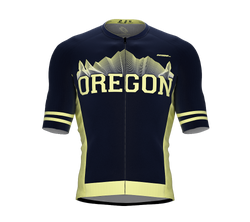 ScudoPro Pro-Elite Short Sleeve Cycling Jersey Oregon USA State Icon landmark symbol identity  | Men and Women