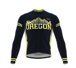 ScudoPro Pro Thermal Long Sleeve Cycling Jersey Oregon USA state Icon landmark identity  | Men and Women