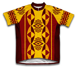 Oval Patters Short Sleeve Cycling Jersey for Men and Women