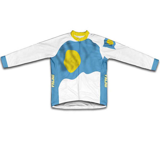 Palau Flag Winter Thermal Cycling Jersey