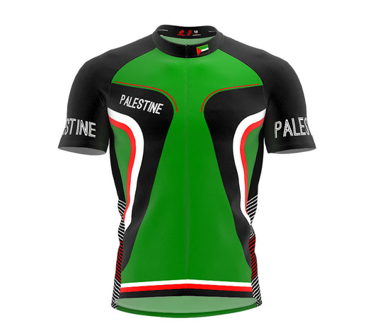Palestine  Full Zipper Bike Short Sleeve Cycling Jersey