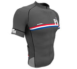 Panama Gray CODE Short Sleeve Cycling PRO Jersey for Men and Women