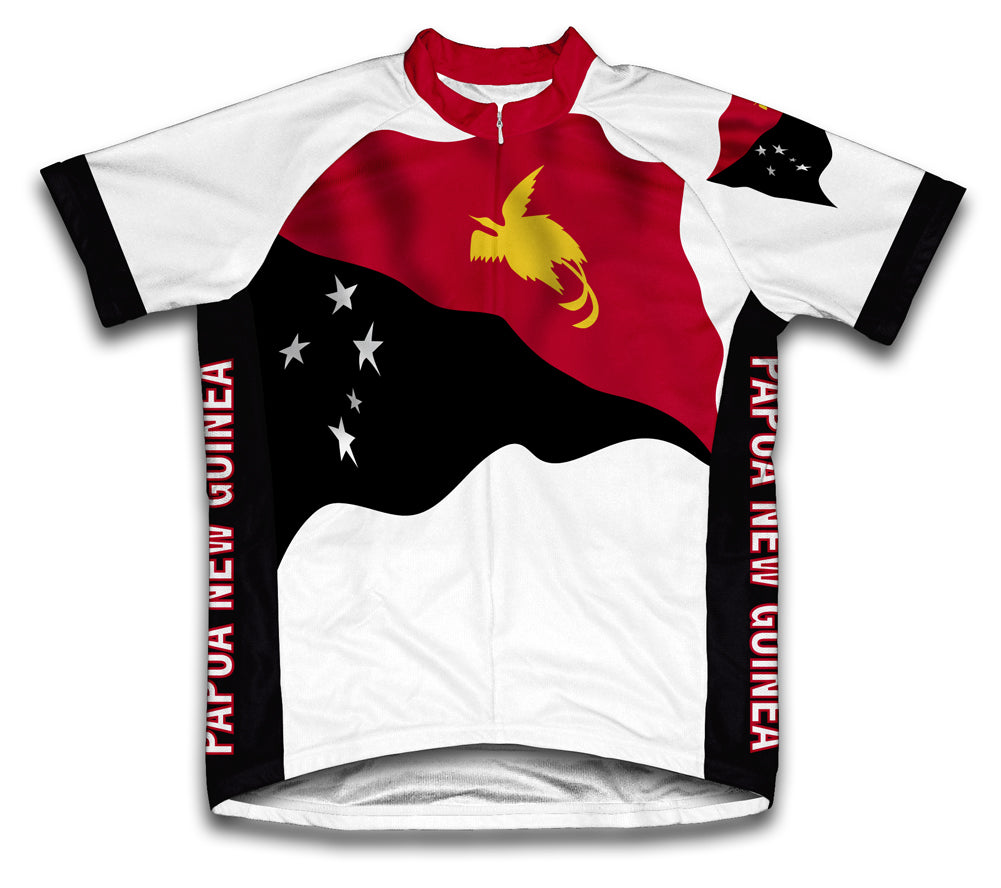 Papua New Guinea Flag Cycling Jersey for Men and Women